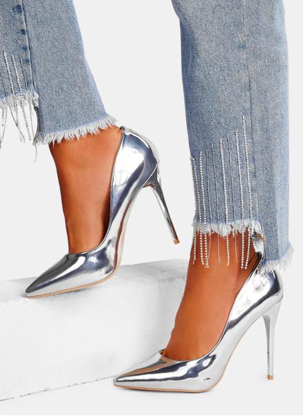 srebrne szpilki damskie